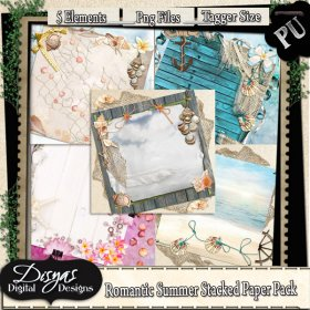 ROMANTIC SUMMER STACKED PAPER PACK TAGGER SIZE