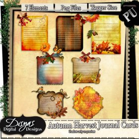 AUTUMN HARVEST JOURNAL TAG PACK - TAGGER SIZE