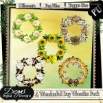 A WONDERFUL DAY WREATH PACK TAGGER SIZE