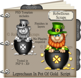 Leprechaun In Pot Of Gold Script