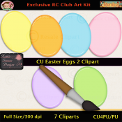 Easter Eggs 2 Clipart - CU