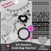 Kit Starters Grab Bag Hearts 2 CU Templates
