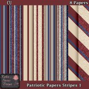 Patriotic Papers Stripes 1 CU Tagger Size
