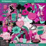 Girls Wanna Have Fun Tagger Size