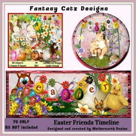 FCD Easter Friends Timeline Set