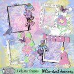 Whimsical Journey cluster frames