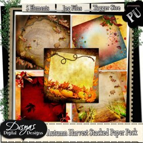 AUTUMN HARVEST STACKED PAPER PACK - TAGGER SIZE
