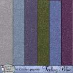 Feeling blue glitter papers