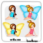 CU Vol. 086 Butterfly Girl by Lemur Designs