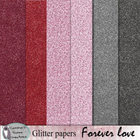 Forever love glitter papers