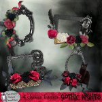 Gothic nights cluster frames