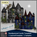 Handpainted Castle - Layered Template CU4CU