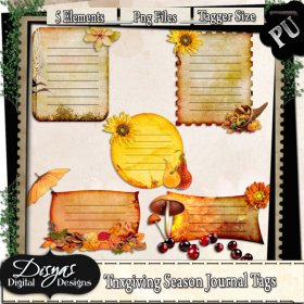 THANKSGIVING SEASON JOURNAL TAG PACK - TAGGER SIZE