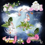 Miracle Baby Girl Cluster PU by Lemur Designs