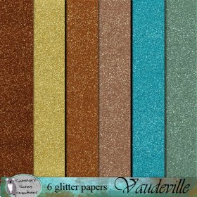 Vauderville glitter papers