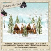 Winter Christmas Cottage Cu 4 Cu FS