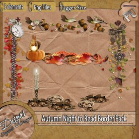 AUTUMN NIGHT TO READ BORDER PACK - TAGGER SIZE