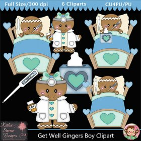 Get Well Gingers Boy Clipart - CU