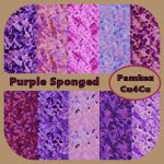 Purple Sponged