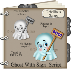 Ghost With Sign Script