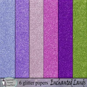 Enchanted lands glitter papers
