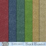 Beach beauties glitter papers