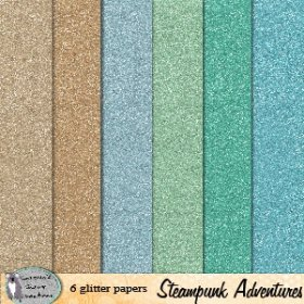 Steampunk Adventure glitter papers