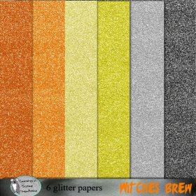 Witches brew glitter papers