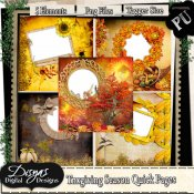 THANKSGIVING SEASON QUICK PAGE PACK - TAGGER SIZE