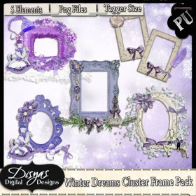 WINTER DREAMS CLUSTER FRAME PACK - TAGGER SIZE