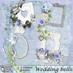 Wedding bells cluster frames