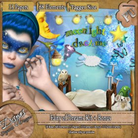 FAIRY OF DREAMS KIT + BONUS - TAGGER SIZE