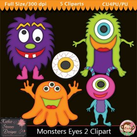 Monsters Eyes 2 Clipart - CU
