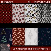 Christmas And Winter Papers 1 CU Tagger Size