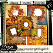 AUTUMN HARVEST QUICK PAGE PACK - TAGGER SIZE