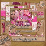 LOVE LETTERS AND FLOWERS BUNDLE TAGGER SIZE