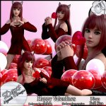 HAPPY VALENTINES POSER TUBE CU - FULL SIZE