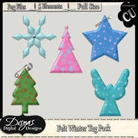 FELT WINTER TAG PACK CU - FULL SIZE