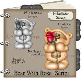 Bear With Rose Script