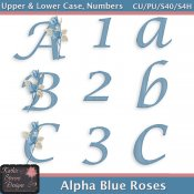 Alpha Blue Roses CU Tagger Size