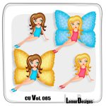 CU Vol. 085 Butterfly Girl by Lemur Designs