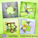 Wild about spring quick pages