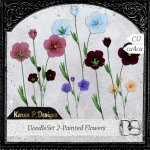 DoodleSet 02-Painted Flowers
