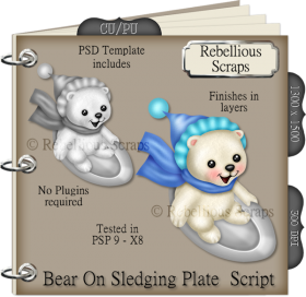 Bear On Sledging Plate Script