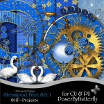 CU Steampunk Blue Set 1