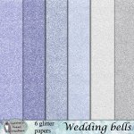 Wedding bells glitter papers