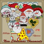 New Christmas Ornaments element pack