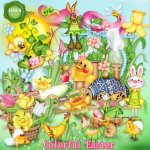 Colorful Easter by Lemur Designs