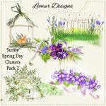 Sunny Spring Day Clusters Pack2 by Lemur Designs