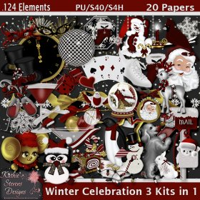 Winter Celebration 3 Kits In 1 Tagger Size